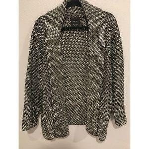 ZARA Women Knit Classy Cardigan Black&White/Grey